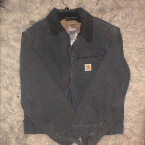 gray carhartt jacket
